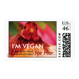 I m Vegan for Her Postage Stamps