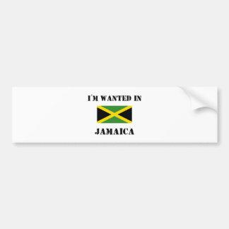 I m Wanted In Jamaica Bumper Stickers