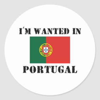 I m Wanted In Portugal Stickers