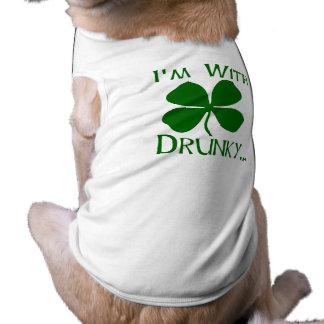 I m With Drunky Doggie Tee Shirt