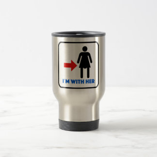 i`m with her travel mug