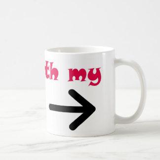I m With My Sister Arrow Right Mug