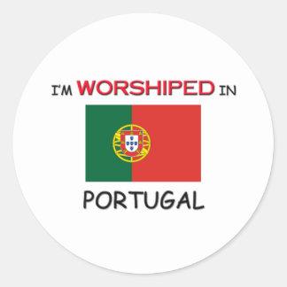 I m Worshiped In PORTUGAL Round Sticker