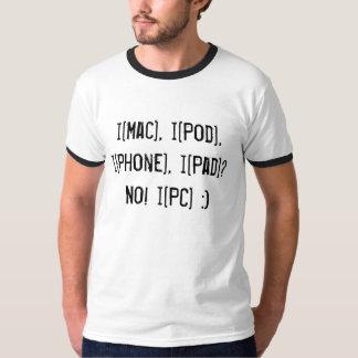 ¿i [mac], i [vaina], i [teléfono], i [cojín]? ¡No! Playera