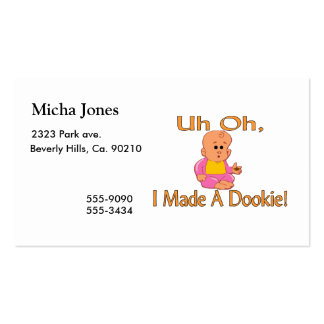 I Made A Dookie Business Card Templates