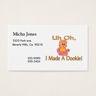 I Made A Dookie Business Card