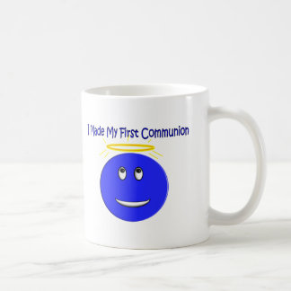 I Made My First Communion Blue Smiley Mugs