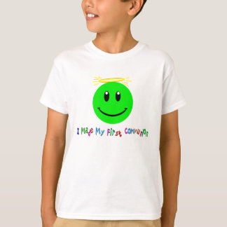 I Made My First Communion Green Smiley T-Shirt