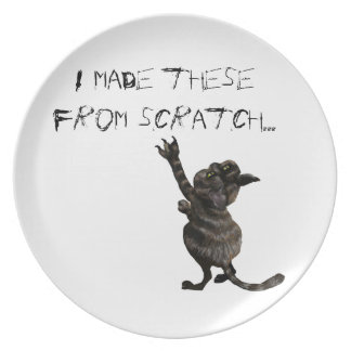 I Made These From Scratch Cat Designer Plates