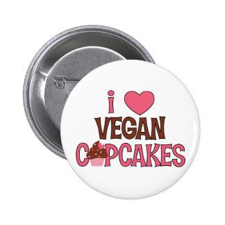 I magdalenas del vegano del corazón pin redondo de 2 pulgadas