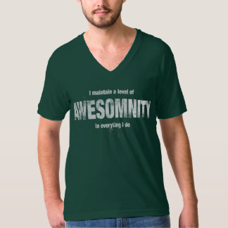 I maintain a level of AWESOMNITY… Shirt
