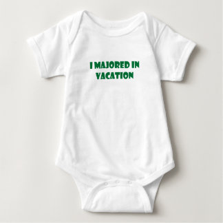 I Majored In Vacation Baby Bodysuit