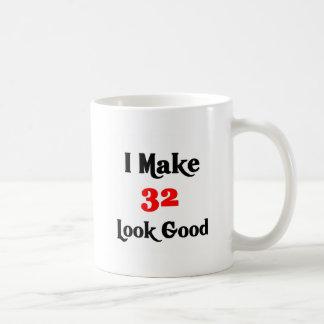 I make 32 look good classic white coffee mug