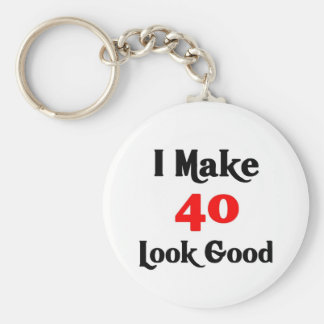 I make 40 look good basic round button keychain