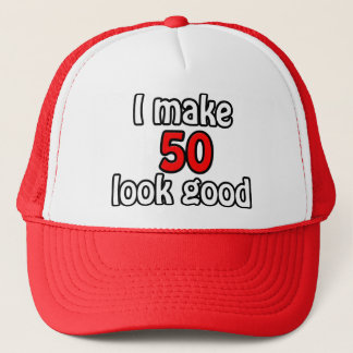 I make 50 garlic good trucker hat
