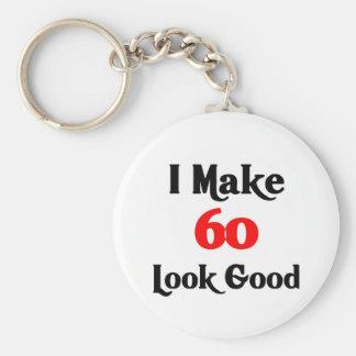 I make 60 look good basic round button keychain