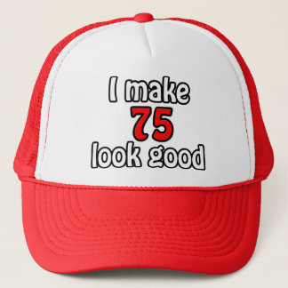 I make 75 garlic good trucker hat