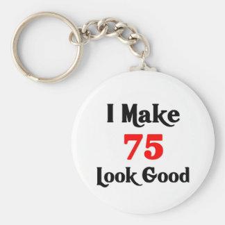 I make 75 look Good Basic Round Button Keychain