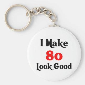 I make 80 look good basic round button keychain