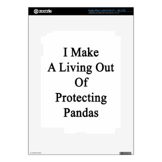 I Make A Living Out Of Protecting Pandas Decals For iPad 3