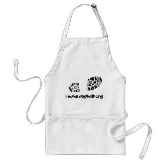 I Make Asphalt Cry Shoe Track Running Apron Standard Apron