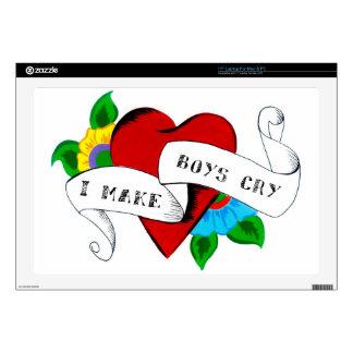 "I Make Boys Cry 17"" Laptop Skin"