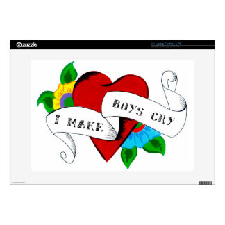 """I Make Boys Cry Decals For 15"""" Laptops"""