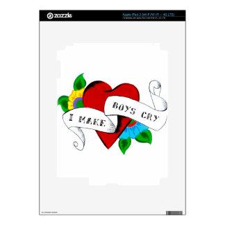 I Make Boys Cry iPad 3 Skins