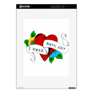 I Make Boys Cry iPad Decal