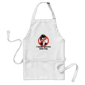 I make grown men cry adult apron