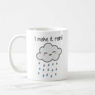 I Make It Rain Cute Storm Cloud Coffee Mug