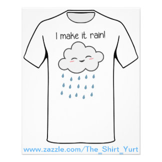 I Make It Rain Cute Storm Cloud Flyer