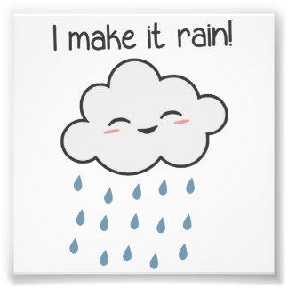 I Make It Rain Cute Storm Cloud Photographic Print