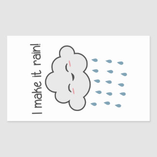 I Make It Rain Cute Storm Cloud Rectangular Sticker