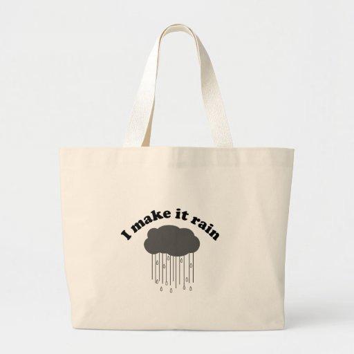 I Make It Rain Jumbo Tote Bag
