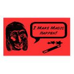 I Make Magic Happen Business Cards Enos Jiggy Pop