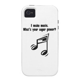I Make Music. What's Your Super Power? Vibe iPhone 4 Cases