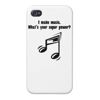 I Make Music. What's Your Super Power? Cover For iPhone 4