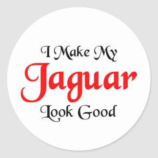 I make my Jaguar look good Round Stickers