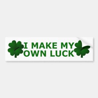 I Make My Own Luck Bumper Sticker