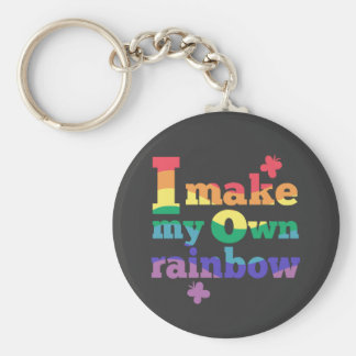 """I make my own rainbow"" colorful message Keychain"