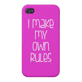 I Make My Own Rules Pink iPhone Case
