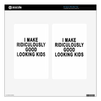 I MAKE RIDICULOUSLY GOOD LOOKING KIDS.png Decals For Kindle Fire