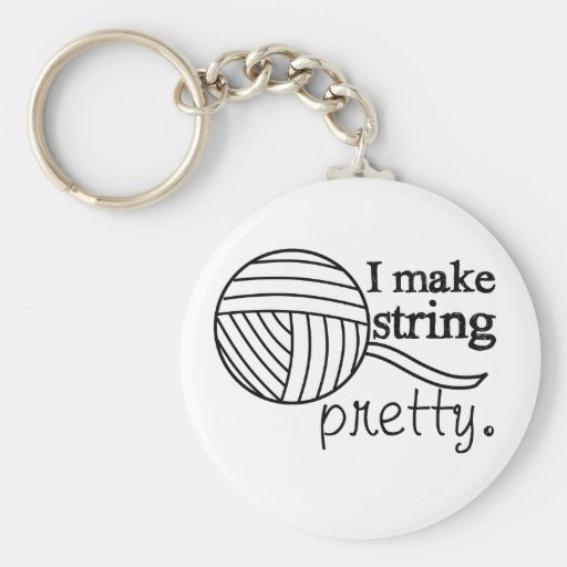 I Make String Pretty • Crafts Yarn Keychain