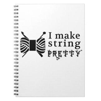 I Make String Pretty ♥ Crafts & Yarn Notebook