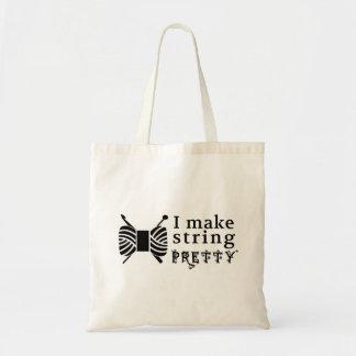 I Make String Pretty / Crafts Yarn Tote Bag