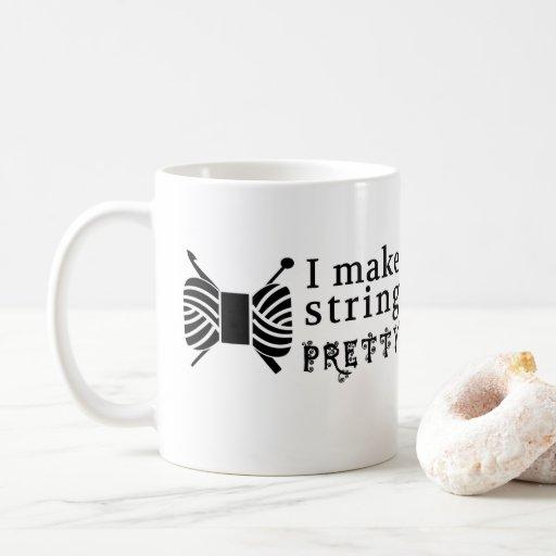 I Make String Pretty Yarn / Crafts Coffee Mug