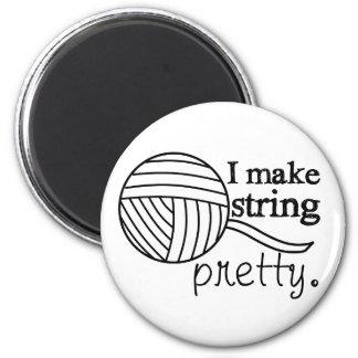 I Make String Pretty • Yarn & Crafts Magnet