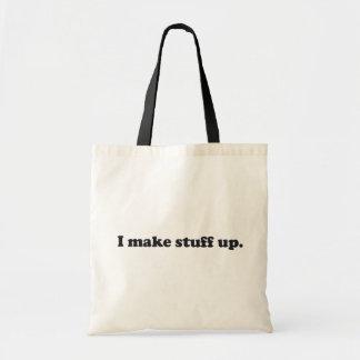 I Make Stuff Up Pathelogical Liar Lying Face Tote Bag