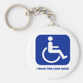 I make this look good basic round button keychain